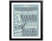 Grandparents Print -  Gift for Grandparents - Gifts for Grandpa - Gift for Grandma - Gifts from Grandchildren - Wall Art Print