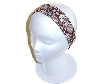 Reversible Wide Headband, Adult Headband Woman, Women's Brown Headband, Headbands For Women, Headband Adult, Hair Accessories