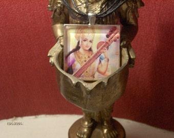 Saraswati Goddess Pendant - FREE SHIPPING