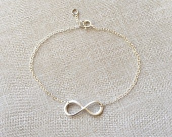 Forever love infinity sterling silver bracelet, must have item