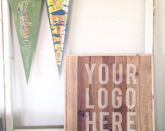 Reclaimed Wood Sign Blank - Customize with your Shop, Blog or Business Logo