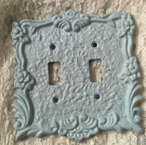 Items Similar To Cast Iron Double Light Switch Plate Cover