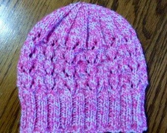 Variegated Pink and White Child's Hat
