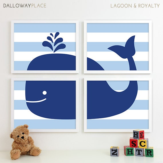 Https Www Etsy Com Listing 225889407 Boy Bathroom Art Print Whale Bathroom