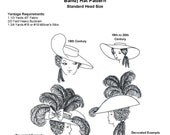 """WN709 - 18th Century (3"""" Band) 19th C. (1"""" Band) Hat Sewing Pattern by Wingeo"""