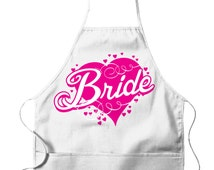 BRIDE Apron! For the Woman who loves to COOK! Perfect for the Bridal Shower. Inexpensive, Funny & Trendy UNISEX Bib Aprons GH_00541_apron