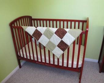 Duckie Crib Bedding Set. Gender Neutral Crib Bedding.