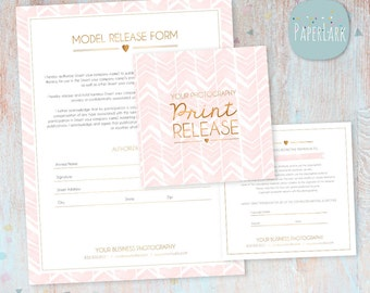 Photography Print Release and Model Release  - Photoshop template - NG013 - INSTANT DOWNLOAD