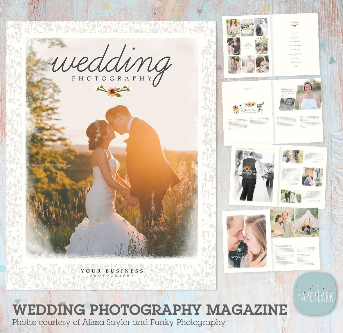 Wedding photography magazine photoshop template 24 page for Wedding photography magazine template
