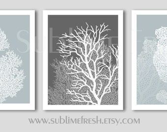 Underwater Sea Coral Beach Home Decor Prints 8x10 Set of 3