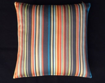 "Ottoman Stripe by Paul Smith  - Apricot - Maharam - 17""x17"" decor Pillow - includes feather insert"