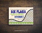 Roller Coaster Invitation | Kids Birthday | Printable Digital File