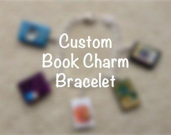 Custom Book Charm Bracelet