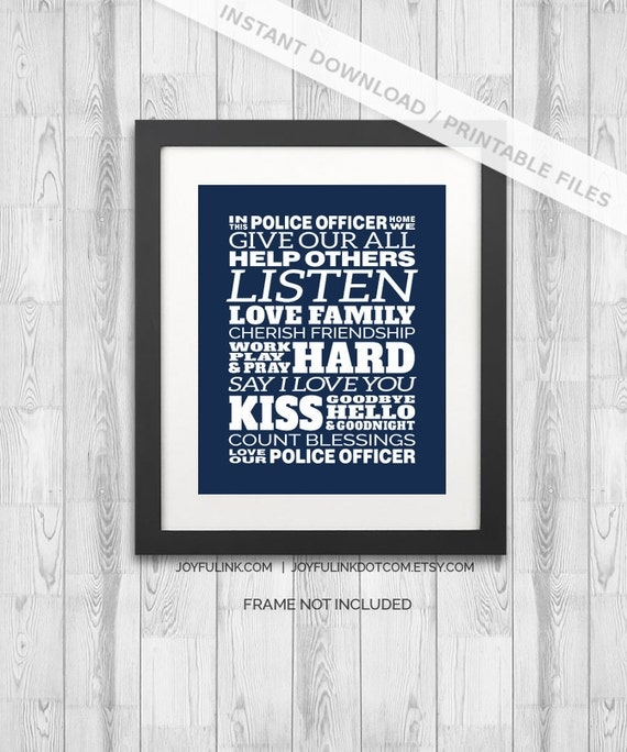 police family police home decor download in this police