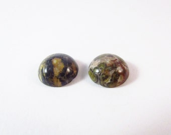 D-00128 - 2 Gemstone Cabochon Leopardskin 12mm