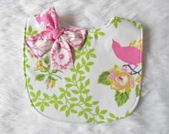Baby bib / Floral bib / Pink baby bib /fashion bib