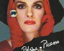 Paloma Picasso Perfume advertisement advert original colour color print 1983 Vintage French Print Wall Art Home Decor