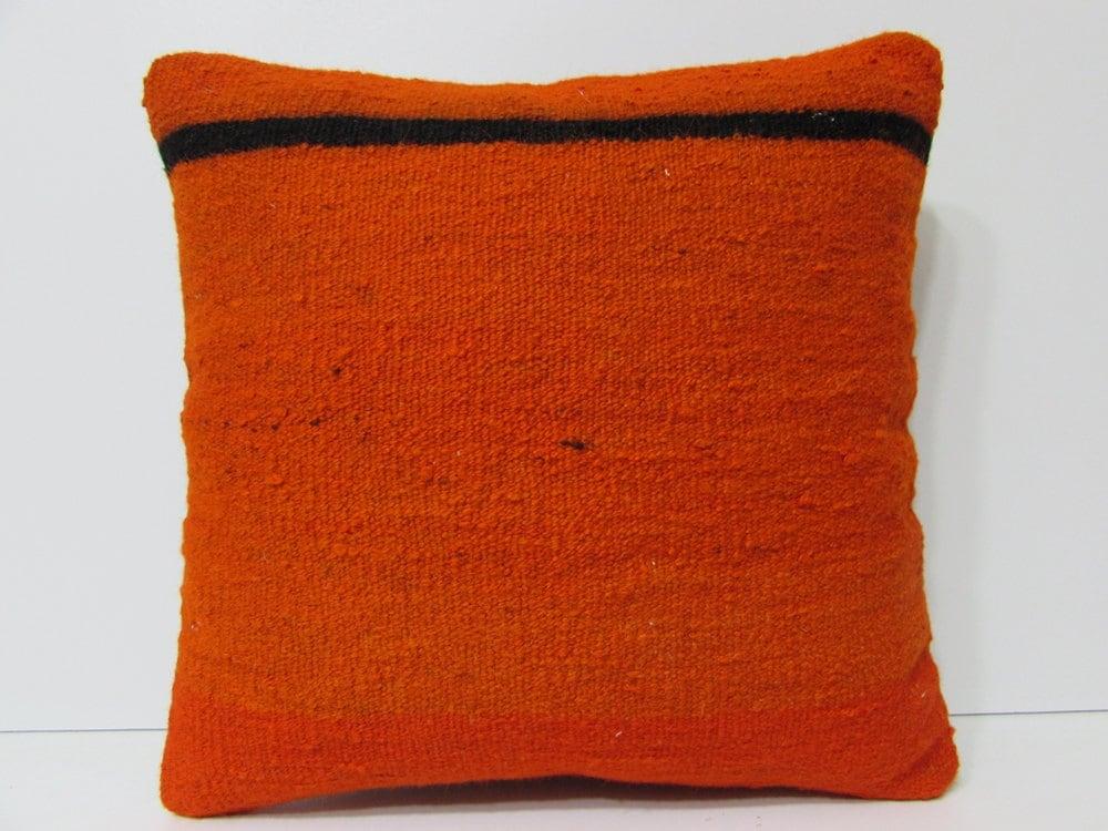 orange pillow case 18x18 orange throw pillow orange cushion