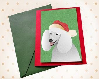 Dog Christmas card Poodle