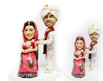 Personalised India wedding topper (Free shipping)