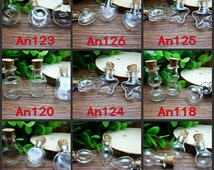 2PCS Glass Wishing Bottles Vials with Cork Stopper Jewelry Findings