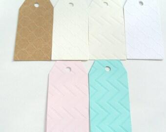 Variety Pack of Raised Print Blank Gift Tags