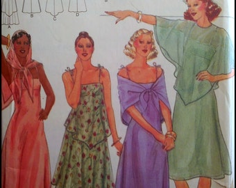 Butterick 5420  Misses' Dress, Capelet And Scarf  Size 16  UNCUT