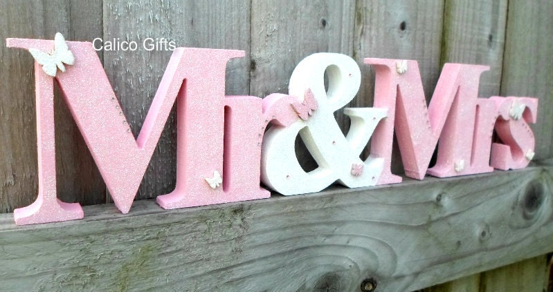Sale mr mrs wooden letters mr and mrs top table letters baby for Baby letter table for sale
