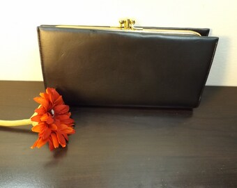 Baronet wallet,Accessories.New old stock.man. women.Snappers. DOT. 4 large compartments black wallet Gift