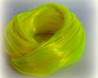 PREORDER L Hank Yellow Peril Nylon Doll Hair for OOAK Custom Monster High My Little Pony Blythe