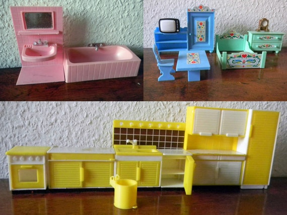 10 off dollhouse furniture from the 70s to 80s made of for 70s living room furniture