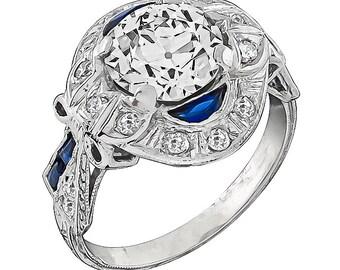 Vintage GIA Certified 1.78ct Diamond Engagement Ring