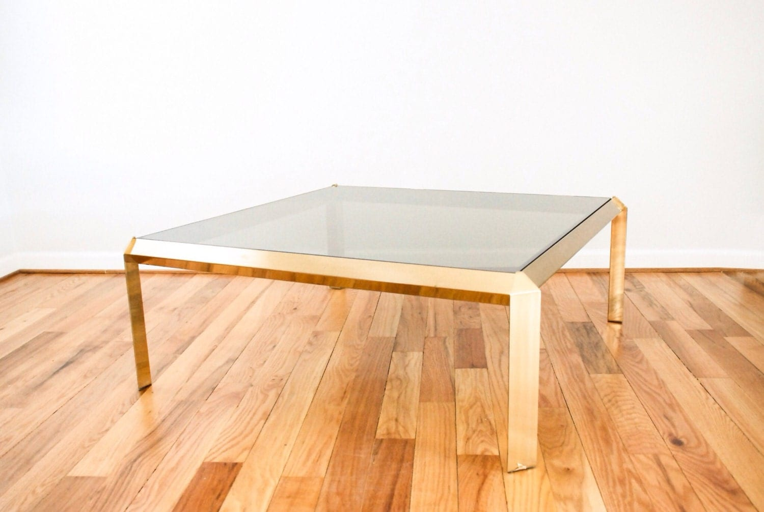 Mid Century Coffee Table Modern Brass Table Glass By Littlecows