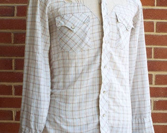 Vintage Long Sleeve Western Snap Shirt By Kenny Rogers Western Collection by Karman