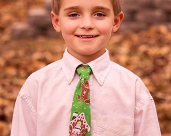 Gingerbread HOLIDAY Necktie Sizes Infant Toddler Youth Men's Standard