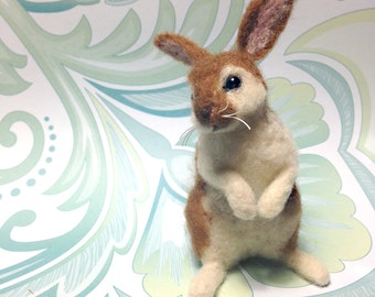 Needle Felted Miniature Rabbit / Bunny