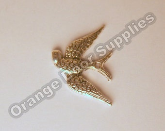 Sparrow Bird Pendant 24x20mm- 4 Pcs Gold Available