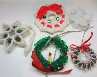 Hand Made Wreath Ornaments For The Christmas Tree