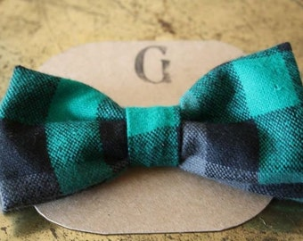 Green wool bow tie