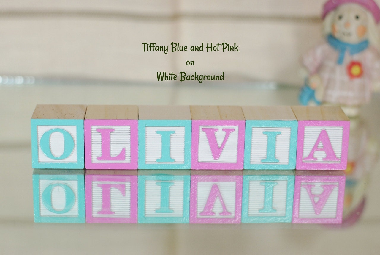 6 Letters Baby Names In Wooden Blocks Nursery Blocks