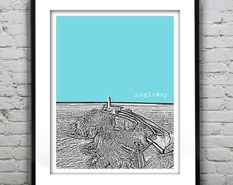 Anglesey North Wales Poster Art Print UK United Kingdom Version 2