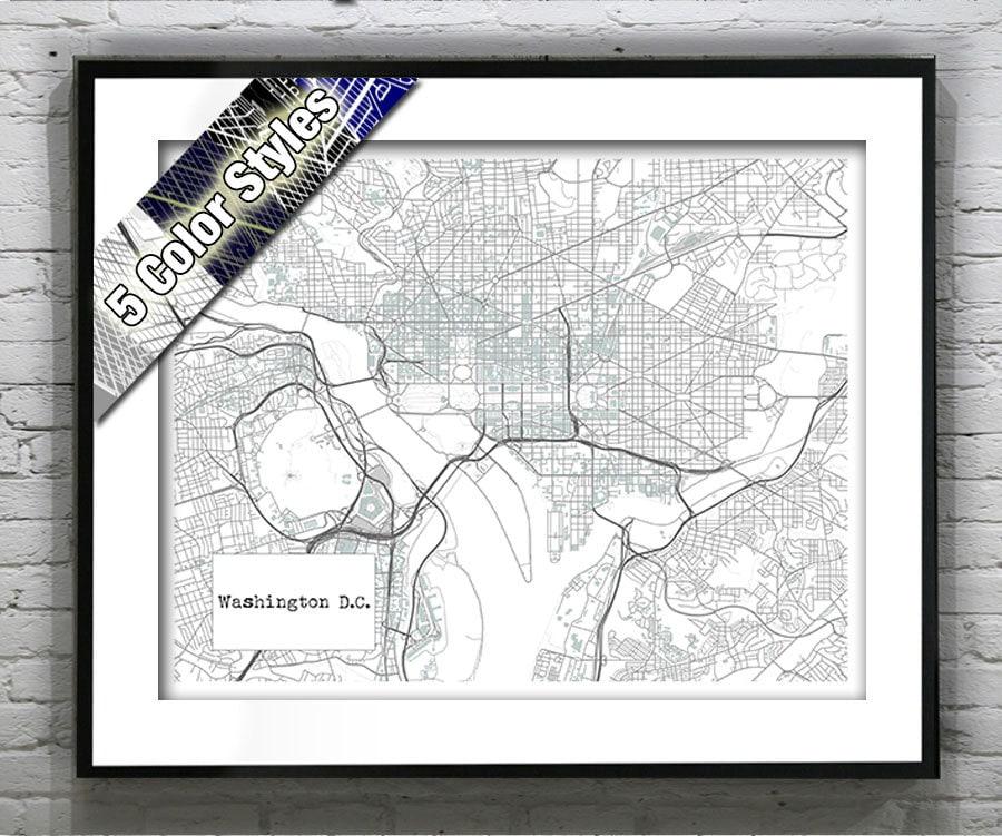 Holiday Sale Washington D C Blueprint Map Poster Art