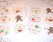 Christmas Stickers /Envelope Seals/Gift Wrapping