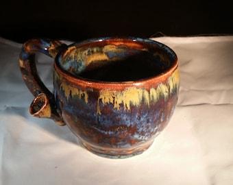 Floating Blue Rusted Ketchup Wakenbake Mug #2