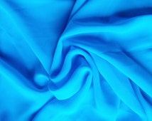 Blue Georgette Fabric -Bouncy Flowing Sheer Georgette Fabric By Quarter Yard –Dress Scarf Flowers Material –Designer Light Weight Fabrics