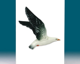 Vintage Flying Seagull Greetings Card 1950s