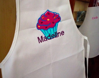 Child's Embroidered Apron (Customizable)