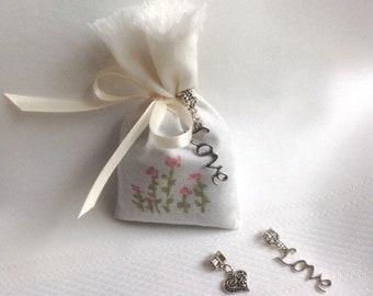 Wedding Favors Bridal Favors Hand Painted Lavender Sachet Favors Bridal Shower Favors