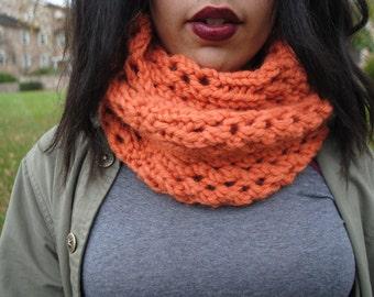 Intricate Knit Orange Scarf