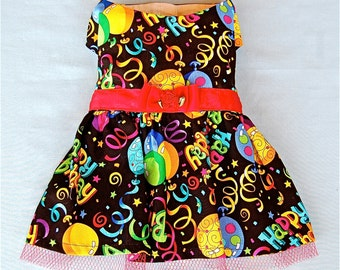 Happy Birthday Colorful and Bright Dog Dress for Dogs and Puppies